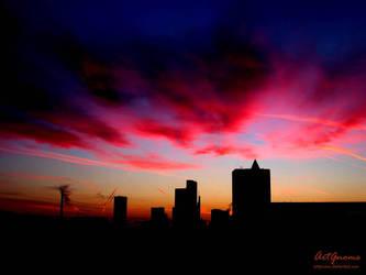 bloodshot sky by ArtGnome