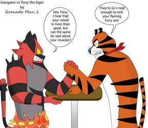 Gaogaen vs Tony the tiger (Updated) by GrenadeMan1