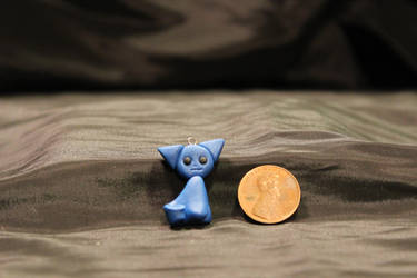 FOR SALE!! - Blue Kitty Pendant $10 by Jadie-Lee
