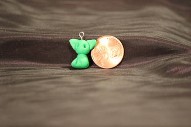 FOR SALE!!! - Green Kitty Pendant $7 by Jadie-Lee