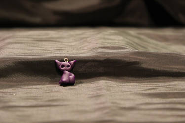 FOR SALE!! - Purple Kitty Pendant $7 by Jadie-Lee