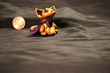 FOR SALE!!! - Gold and Purple Kitty Sculpture $20 by Jadie-Lee