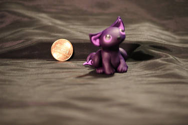 SOLD - Purple Kitty Sculpture by Jadie-Lee