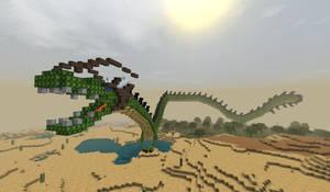 minecraft dragon saphire by Karo1987
