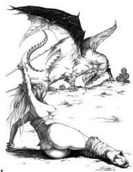 Girl and Dragon by arantzasestayo