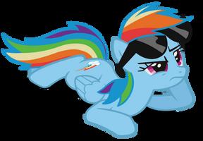 Rainbow Dash Shades Vector (Redone) by Dipi11