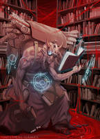 Industrial Demon. the library by Aracubus