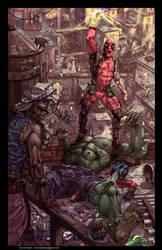 Deadpool kills The Hulk! by Aracubus