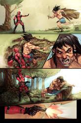 deadpool vs Conan page3 by Aracubus