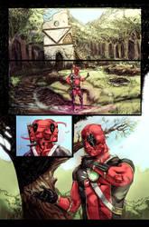 Conan vs Deadpool page 1 by Aracubus