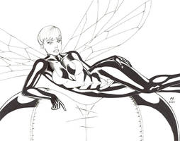 WASP Laying on She Hulk by daikkenaurora