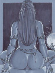 Dejah Thoris _ Darkness by daikkenaurora