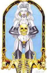 Lady Death _ Skeleton by daikkenaurora