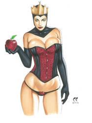 Black Queen 'Eat my Apple' by daikkenaurora