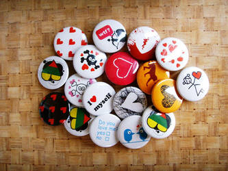 Valentine's day pins 2 by dblg