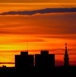 Novi Sad sunset by Yousry-Aref