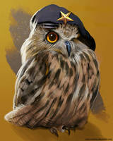 Eagle-owl comandante Yoll by Maru-chanKa