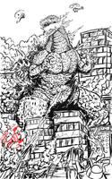 Commission Sketched: Godzilla Returns by Gabe-TKE