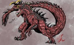 Akuma'tTaur ( Devol of Red) by Gabe-TKE