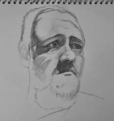 self portrait wip by tdfb