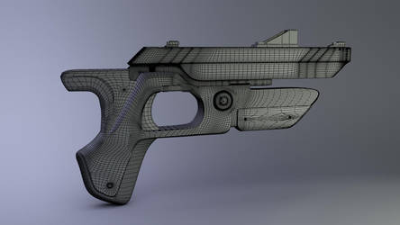 Klatch Blaster Co. Model- Wireframe by JWright-3D-Graphics