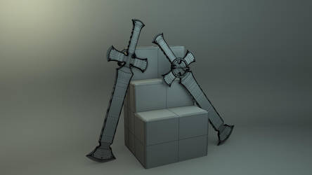 Cross Great sword- Leo Whitefang- Guilty Gear by JWright-3D-Graphics