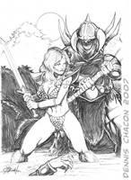 Red Sonja VS Viking by DCON