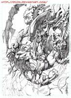 Aliens VS Predator Pencils by DCON