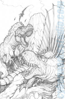 Prehistoric Battle by DCON