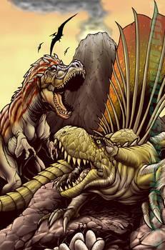 Dimetrodon VS Gorgosaurus by DCON