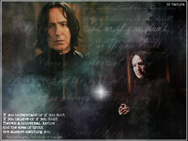 Severus Snape Wallpaper by SaphiraNirnaeth