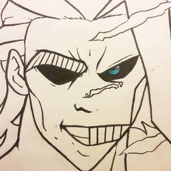 All-might (Inktober) by GelatinGiant