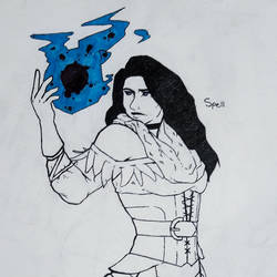 Yennefer of Vengerberg (Inktober) by GelatinGiant