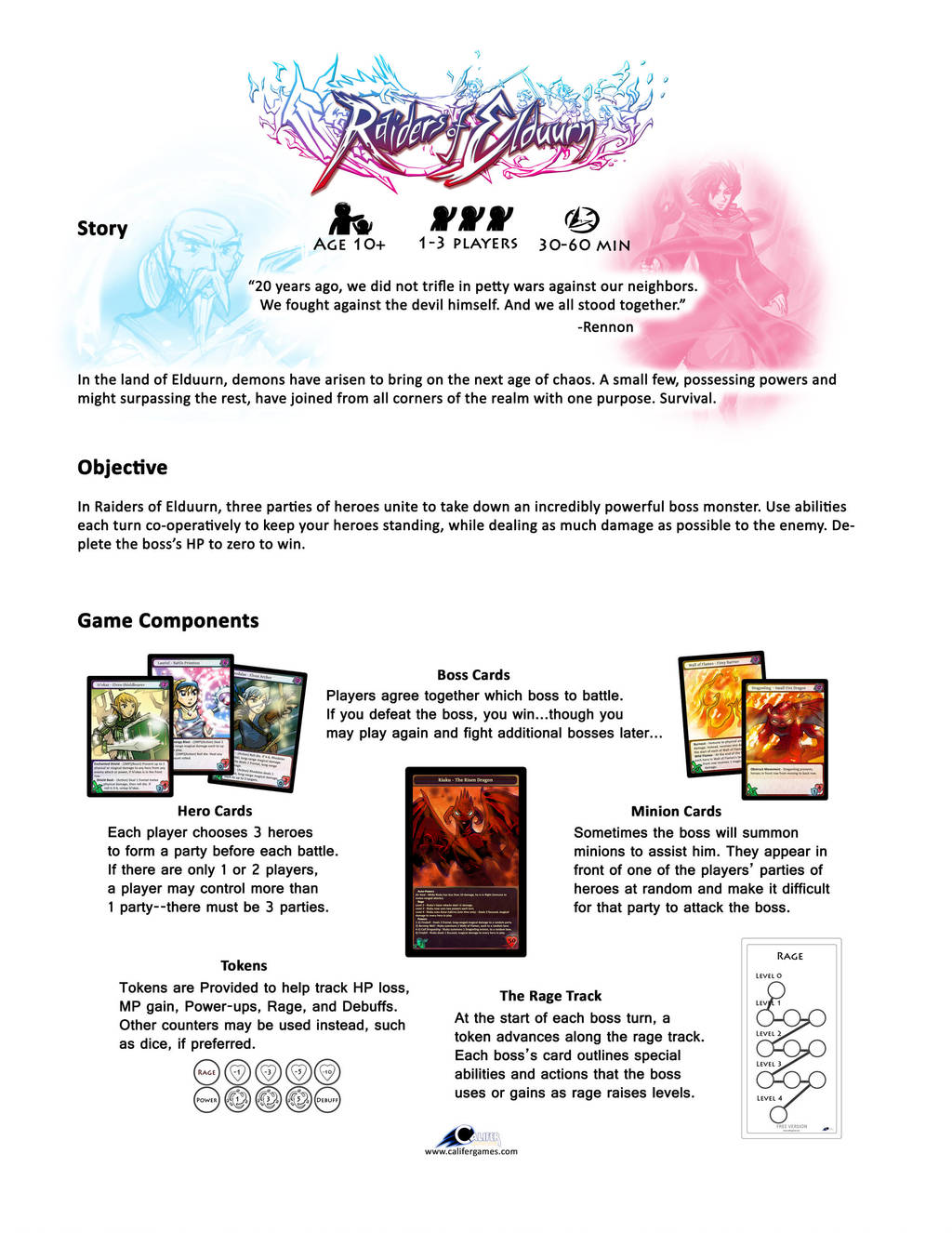 Raiders of Elduurn - Instructions page1 by Peter-CaliferGames