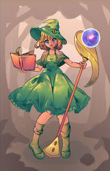 [Collab] Witch Apprentice by tamaharian