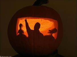 Mystery Science Pumpkin by mrsselfdestruct