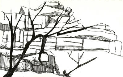 Southwest Sketch - Thunder Struck Grove by RebexTrip