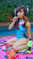 Gremlin Swimsuit D.va by vynasaur