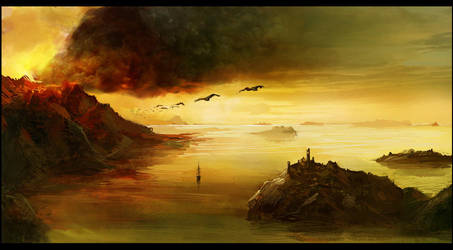 Volcano Island by gizmodus