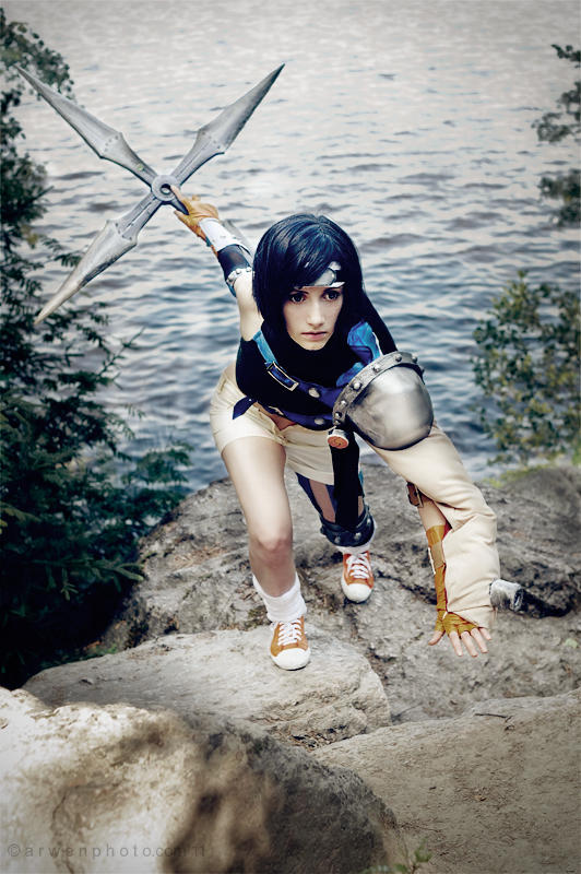 Last second before a start - Yuffie cosplay by Narga-Lifestream
