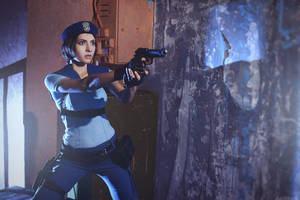 Resident Evil - Jill Valentine - Who's there? by Narga-Lifestream