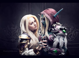 Jaina and Sylvanas - Peace treaty by Narga-Lifestream