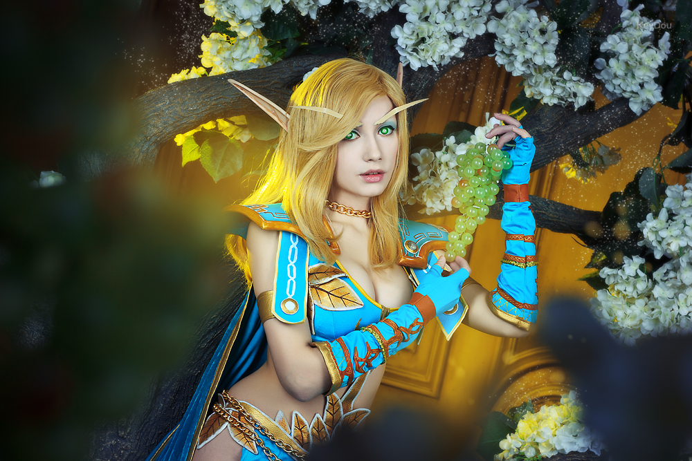 WoW - Blood Elf - Blooming Quel'Thalas by Narga-Lifestream