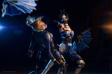 Mortal Kombat X - Cassie Cage vs Kitana by Narga-Lifestream