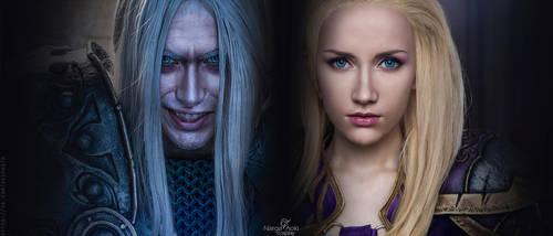 Warcraft III style - Arthas and Jaina by Narga-Lifestream