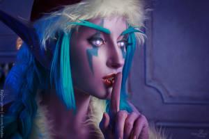 Winter Veil Night elf - Make a wish! by Narga-Lifestream