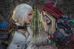 Battle for Azeroth - Jaina vs Sylvanas by Narga-Lifestream