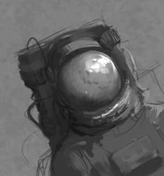 Speedpaint kosmonauta by araua