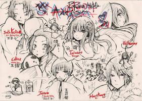 AxisPowersHetalia-Asia Family by xxxsai
