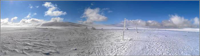 Snow and Sky panorama by gshegosh